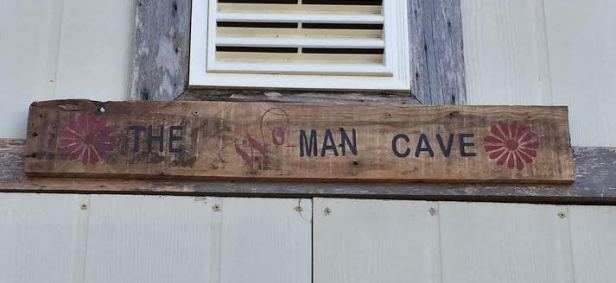 woman cave close up