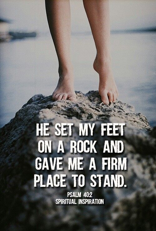 feet on the rock